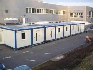 Aufstellung Containerkuche