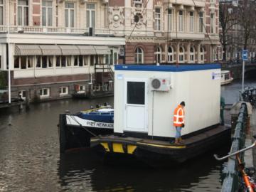 Kuchencontainer auf dem Wasser