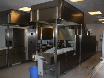 Spülkuche in Modulbau mit zwei Maschinen