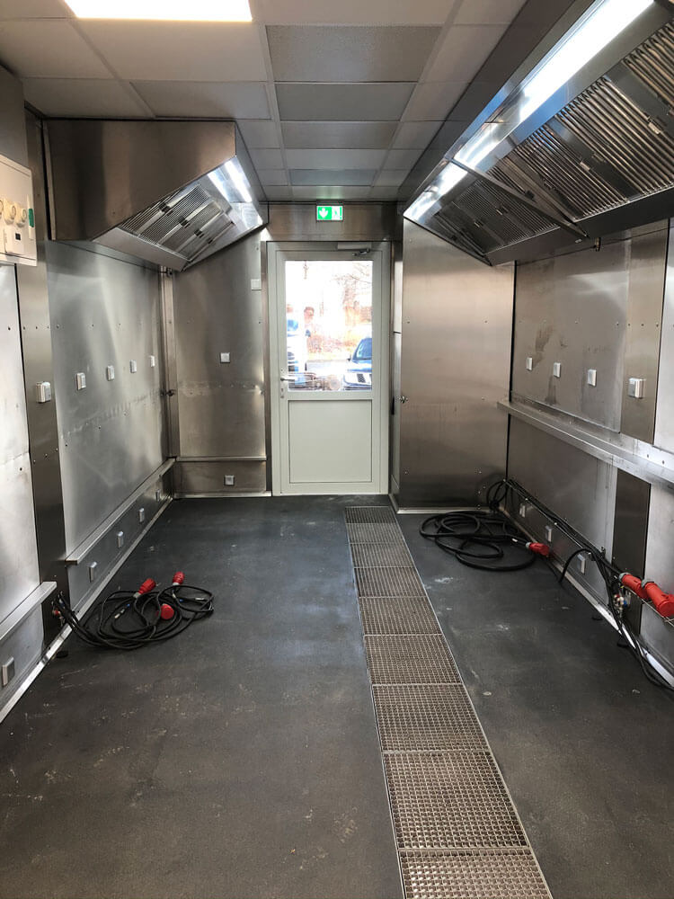 Opbouw en installatie mobiele keuken Erfurt